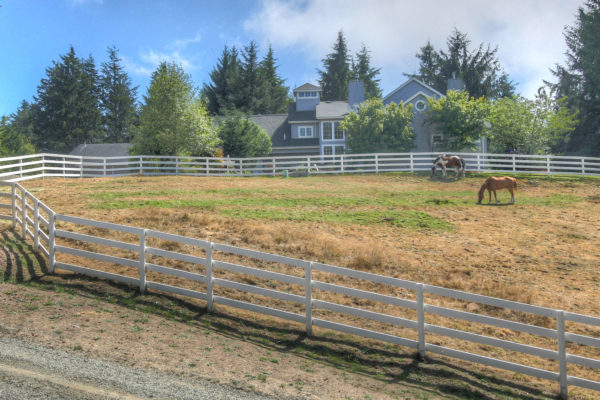 View of Custom built Oregon home and Pasture
