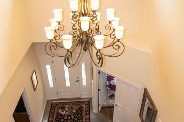 Custom home entryway - award winning design