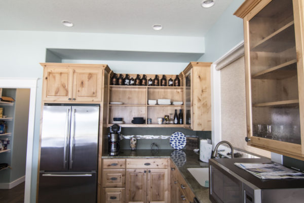 beautiful wood kitchen cabinets and shelves - Oregon