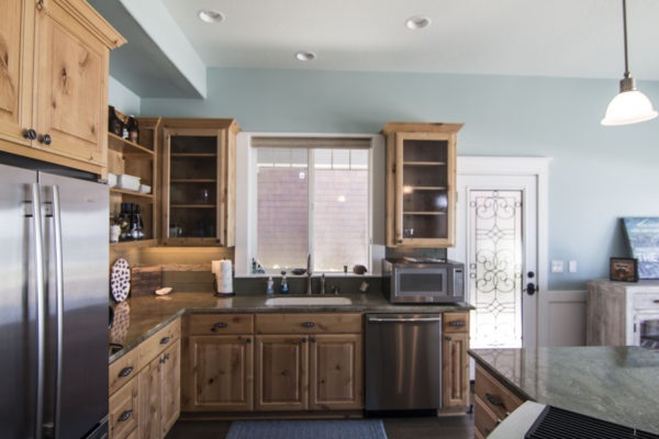 Stone Topped Kitchen cabinets - fine custom carpentry - Oregon